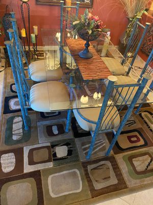 Glass table with 6 chairs for Sale in Las Vegas, NV