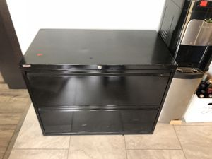 Lateral filing cabinet, 2 drawer, black for Sale in San Diego, CA