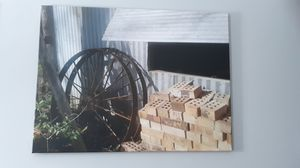 """Rustic Farmhouse Canvas Print 40""""×30"""", excellent condition. Smoke free. Moving sale. More to come. for Sale in Festus, MO"""