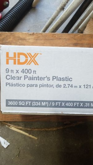 Clear painters plastic 9 x400 for Sale in Monrovia, CA