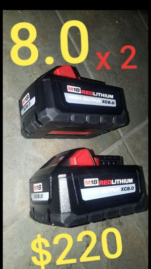 Milwaukee 8.0 batteries, new for Sale in Los Angeles, CA
