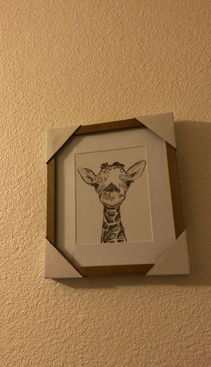 Giraffe picture frame for Sale in Dinuba, CA