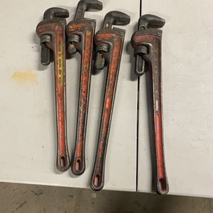 24 Inch Pipe Wrenches 15$ A Pop for Sale in Waterbury, CT
