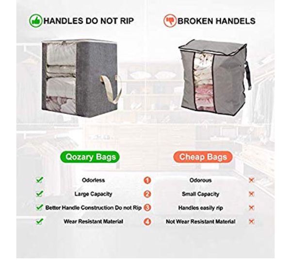 New Large Foldable Storage Bag Organizer Clothes Storage Container/Blankets, Comforter/With Handles
