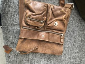 Roots messenger bomber leather bag for Sale in Los Angeles, CA