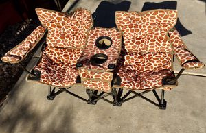 Kids Double Camping Chair with Storage for Sale in Glendale, AZ