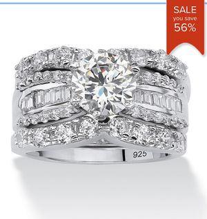 Three-Piece Engagement/ Wedding Ring Set 5.63 TCW for Sale in Teaneck, NJ