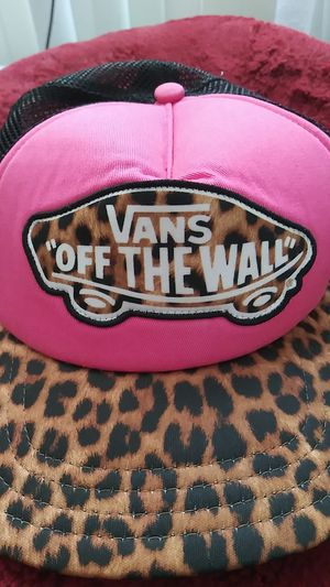 """New! Leopard & Pink Vans """"off the wall"""" Hat for Sale in Chula Vista, CA"""