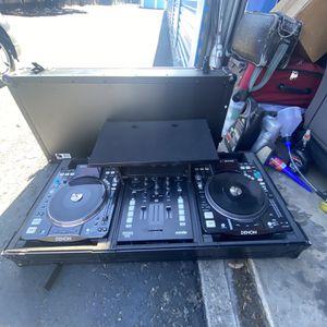 Dj set up denon mixars serato equipment for Sale in Sonoma, CA