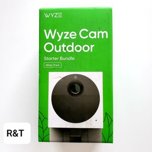 Wyze Wireless Outdoor Surveillance Camera Plus MicroSD Card Includes Base Station for Sale in Fullerton, CA