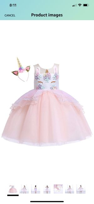 Kokowaii Fancy Girls Unicorn Dress up Fancy Costume for Pageant Party 2T-3T for Sale in Raleigh, NC