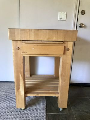 Solid wood chopping block / kitchen island for Sale in Seattle, WA