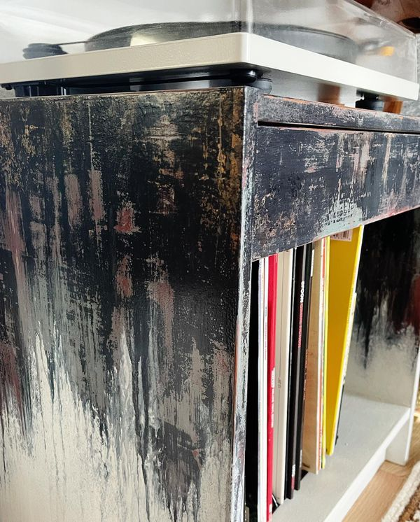 Distressed Side Table with Drawer