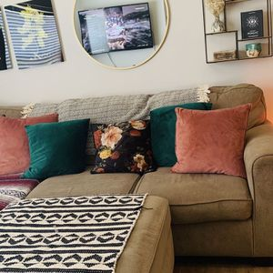 Beautiful Sectional Couch & Ottoman For Sale for Sale in Alpharetta, GA