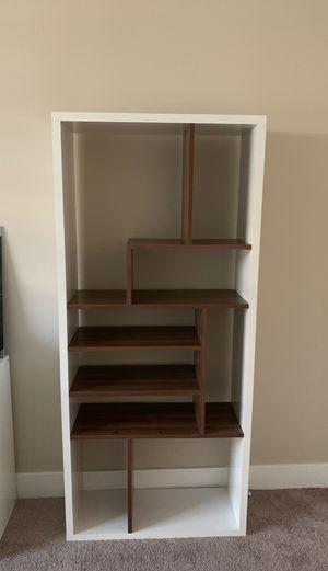 Hokku Designs Geometric Bookcase white/walnut for Sale in Las Vegas, NV