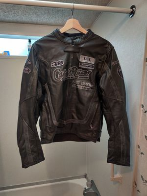 German made Leather Motorcycle Jacket size Large $125 FIRM for Sale in Pompano Beach, FL