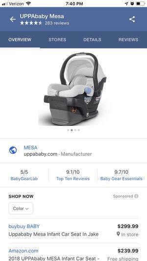 UPPA baby Mesa car seat & base for Sale in Hamburg, NY