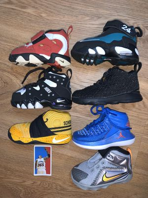 Toddler baby infant hoop shoes jordan nike size 5c 6c Lebron griffey Kyrie for Sale in Portland, OR