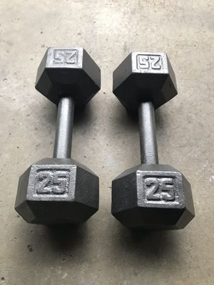 25lb dumbbell set! $25 for Sale in Third Lake, IL