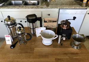 Collection of coffee making tools for Sale in Huntington Beach, CA