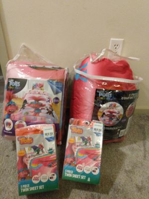 Trolls twin size bed sets for Sale in Issaquah, WA
