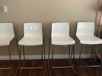 Set Of 4 Modern White Chairs- Counter Height for Sale in Tacoma,  WA