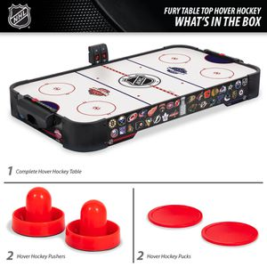 NHL Fury Table Top Air Powered Hockey Game 38 in, Includes Two Pucks and Two Pushers for Sale in Houston, TX