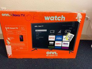 """New ONN ROKU 32"""" Smart Tv! Open box w/ warranty I5QNU for Sale in Whittier, CA"""