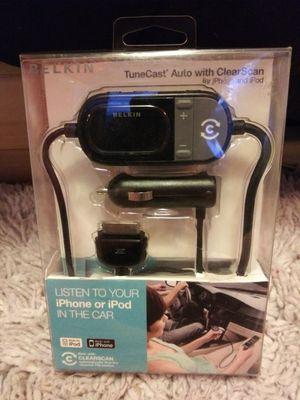 Belkin Tunecast Auto with Clearscan for iPhone & iPod for Sale in Seattle, WA