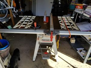 RIGID Iron Heavy Duty Table Saw w/ Caster Set and Rolling Pins for Sale in Orlando, FL