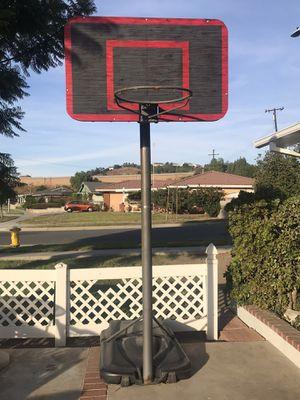 Basketball hoop with wood backboard for Sale in Corona, CA