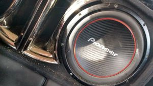 "Pioneer 12"" sub in sbx pro audio box w alpine amp for Sale in Tulsa, OK"