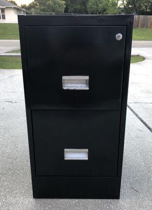 Filing Cabinet-Black-2 drawer for Sale in Port St. Lucie, FL