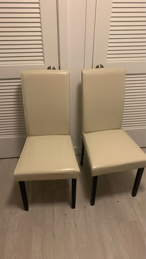 Ivory Faux Leather Chairs for Sale in Washington, DC