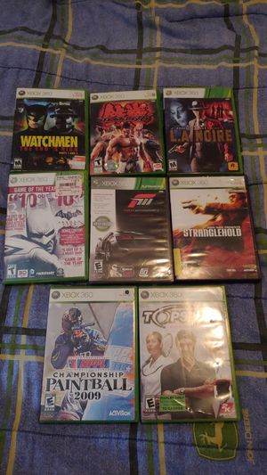 (8) USED XBOX 360 GAMES BUNDLE for Sale in Los Angeles, CA