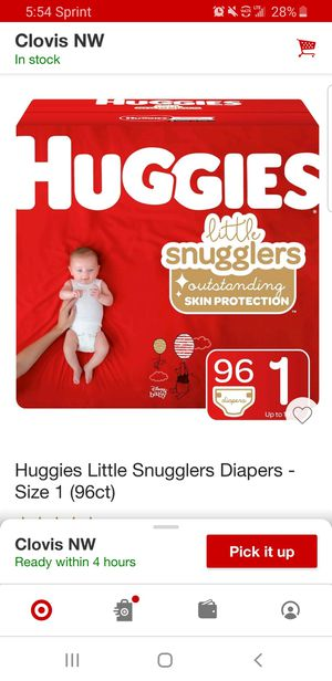 Huggies Little Snugglers diapers sz 1 96 count for Sale in Clovis, CA