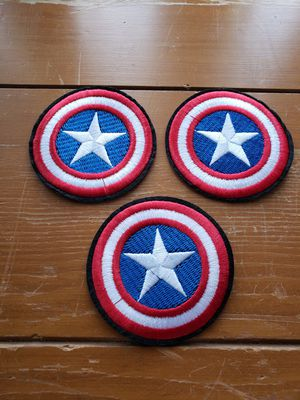 DC Captain America 3 lot iron on 3in Iron On patch or sew for Sale in Los Angeles, CA