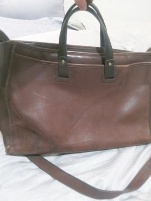 Coach leather messenger bag for Sale in Denton, TX