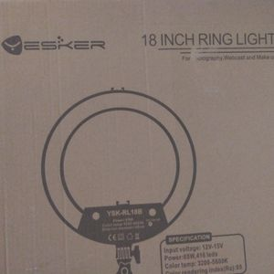 Yestker Ultra-Slim 18' RING LIGHT WITH TRIPOD AND REMOTE 2021 Edition for Sale in Bell Gardens, CA