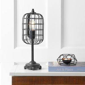 JONATHAN Y Odette 20 in. Black/Silver Industrial Metal Table Lamp. Brand New! for Sale in Plantation, FL