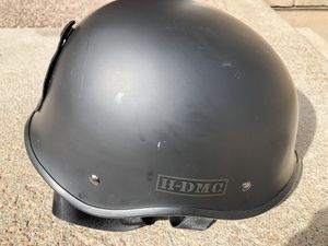 Harley Davidson helmet ear covers with holes so u can hear traffic and Dot black never worn for Sale in Colorado Springs, CO