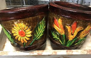 Beautiful Small flower Pots $24 Set for Sale in Austin, TX