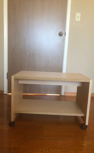 Rolling Light Wood Shelf for Sale in Woodside, CA