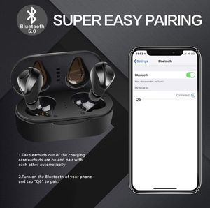 True Wireless Earbuds, 6H Continuous 40H Cyclic Playtime 5.0 Bluetooth Earbuds, Binaural Stereo Deep Bass Wireless Earbuds with 2 Mic and Charging Ca for Sale in Highland Park, NJ