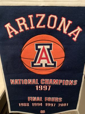 Arizona the U of A college basketball banner embroidered for Sale in Tempe, AZ