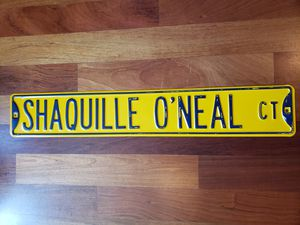 Shaquille O'neal Lakers NBA basketball street sign for Sale in Gresham, OR