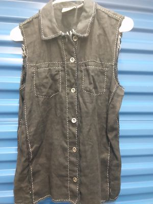 Chico's vintage distressed black vest size 1 woman's for Sale in Takoma Park, MD