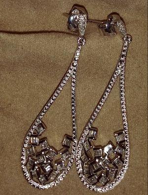Diamond Sterling Earrings 1/3 CTTW for Sale in McKeesport, PA