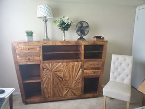 Beautiful trippy unique solid wood dresser for Sale in Nottingham, MD