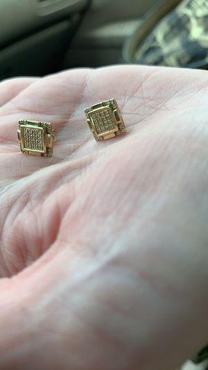 14 kt diamond earrings for Sale in Columbus, OH